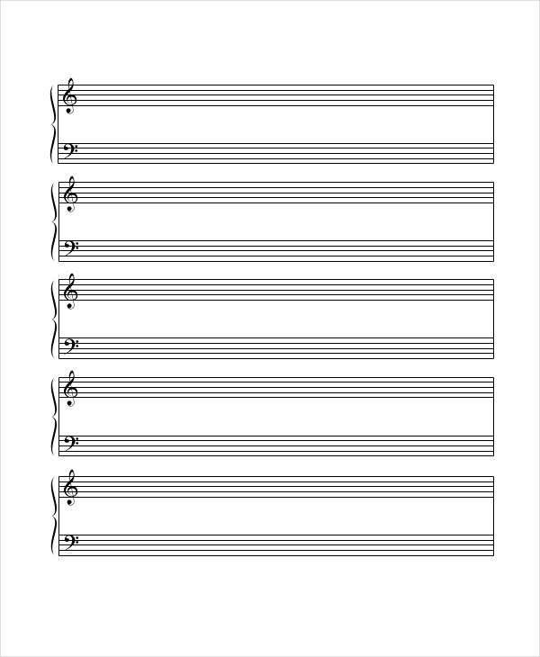 It's just a picture of Mesmerizing Music Staff Paper Printable