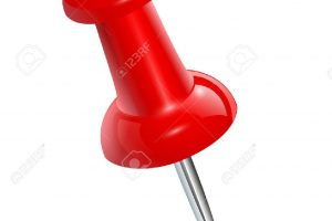 push pin red push pin isolated vector