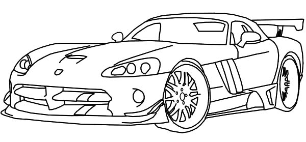 Extraordinary Inspiration Race Car Coloring Pages Dodge Viper Sky