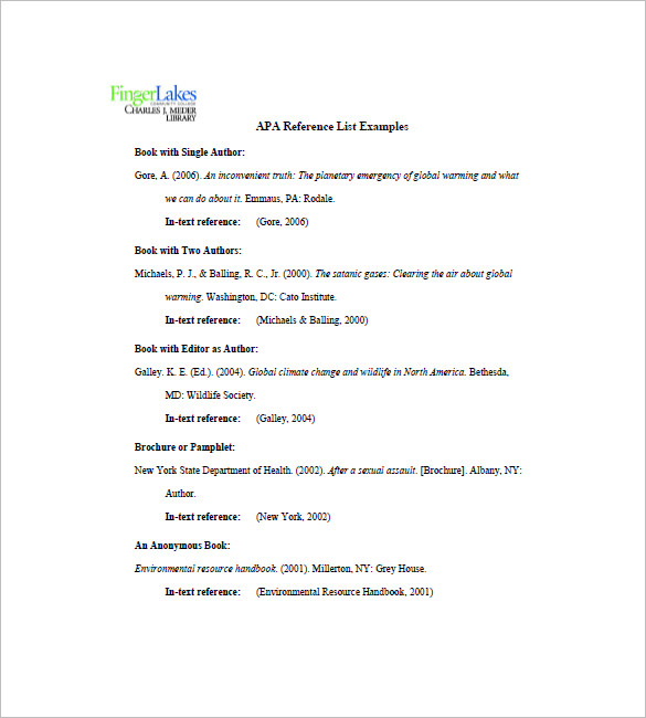 reference page template reference list template 10 free word excel