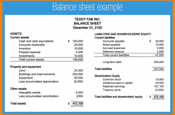 sample balance sheet example balance sheets balance sheet sample