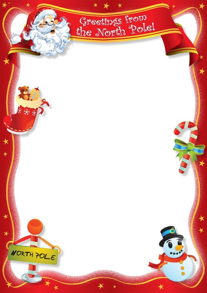 Free Blank Letter From Santa Template New Calendar Template Site