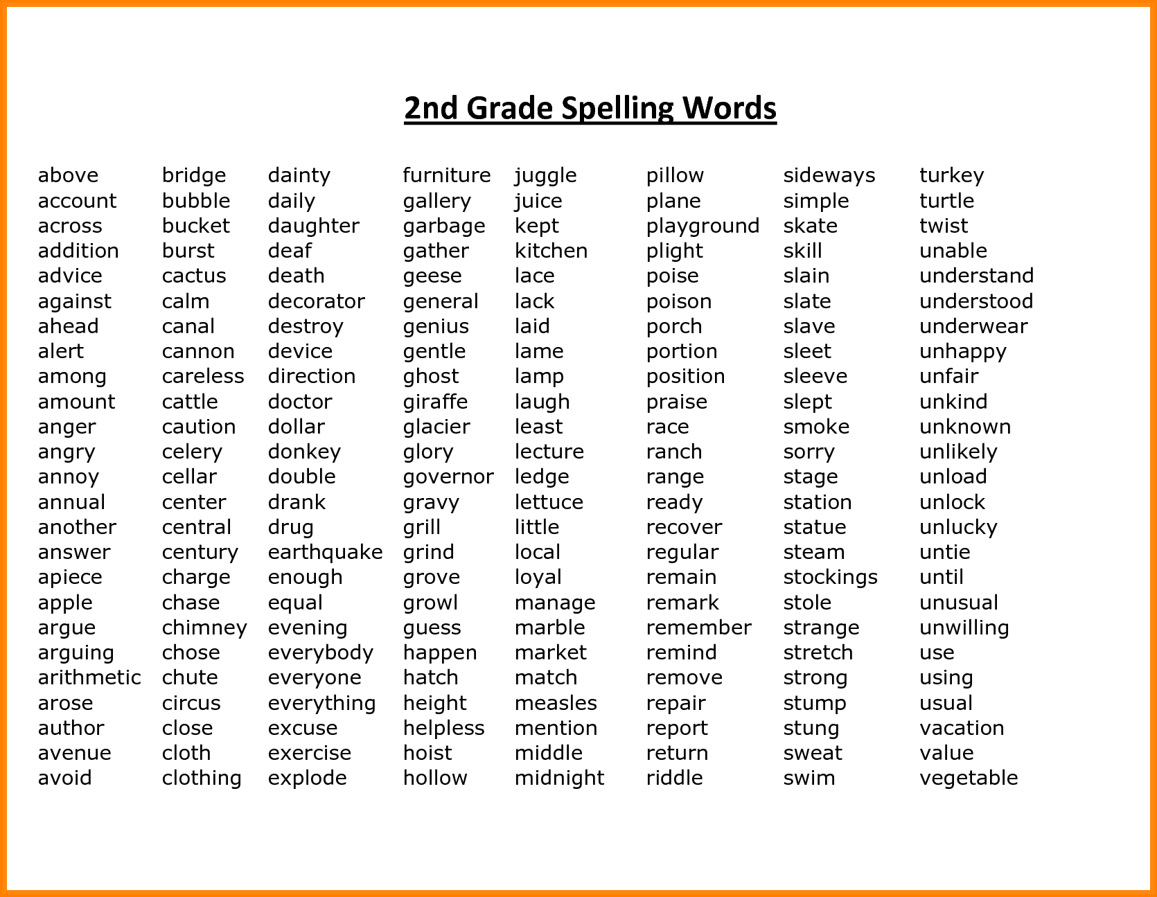 3+ spelling words for 2nd grade | math cover