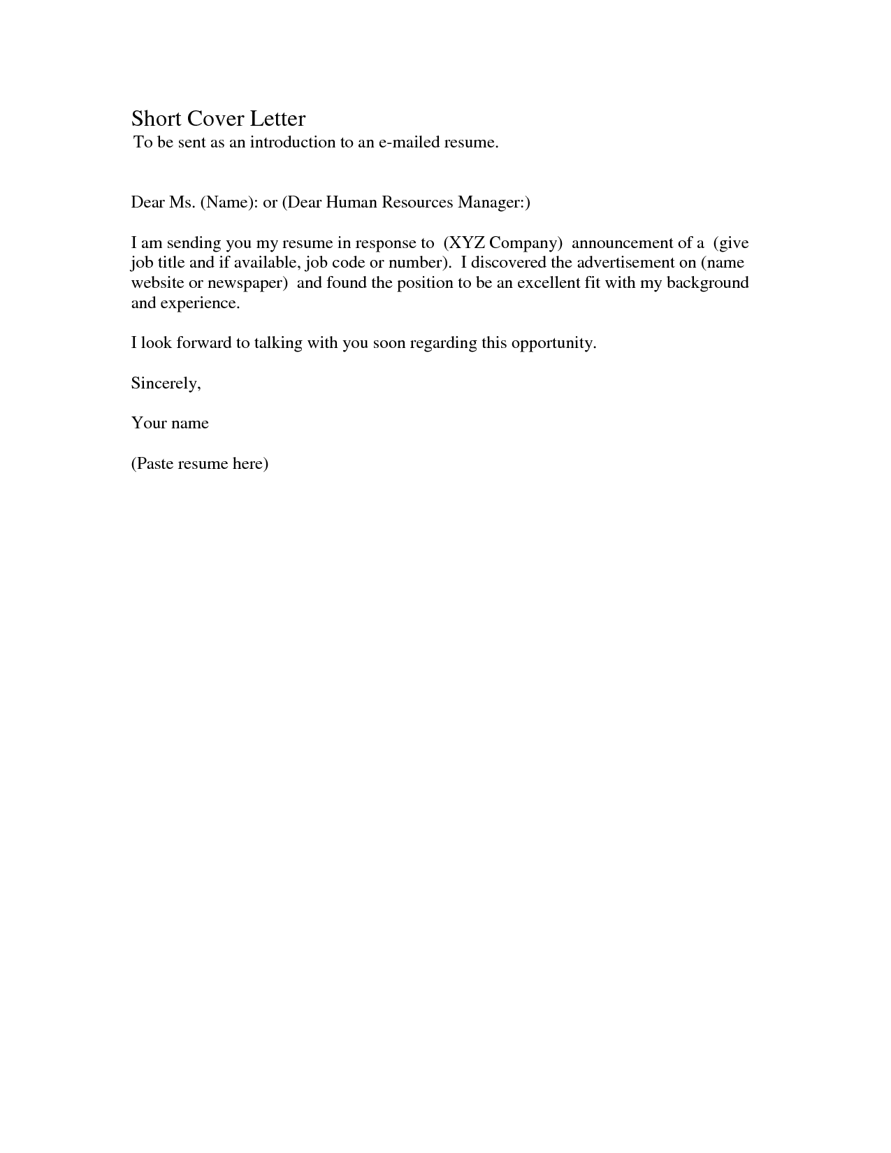 short and simple cover letters Incep.imagine ex.co