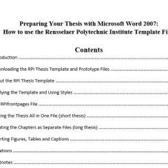 table of contents example toc