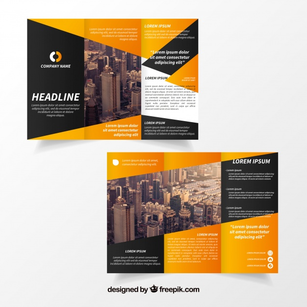 Creative trifold brochure template Vector | Free Download