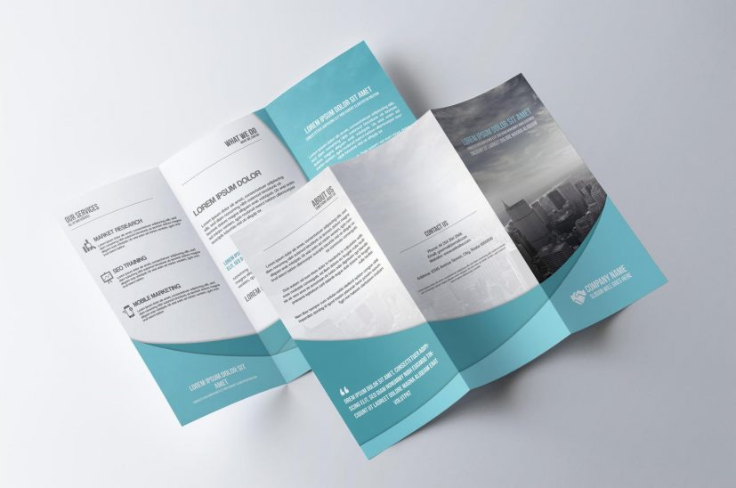 Professional Tri Fold Brochure Design by CreativeShop7 on Envato