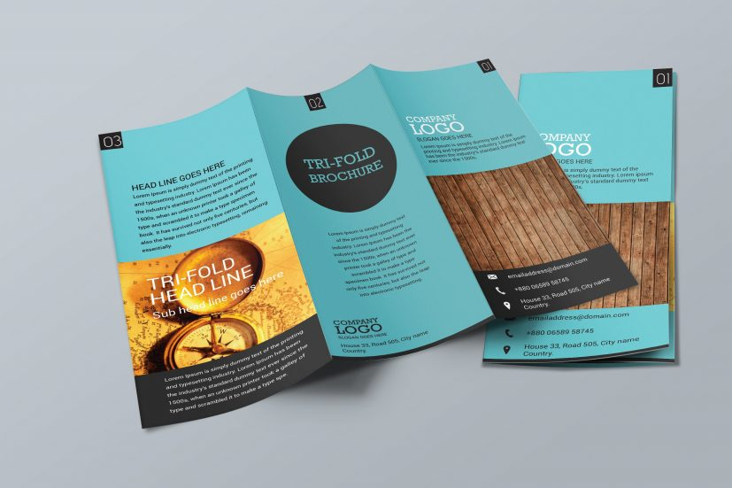 Simple Trifold Brochure Design ~ Brochure Templates ~ Creative Market