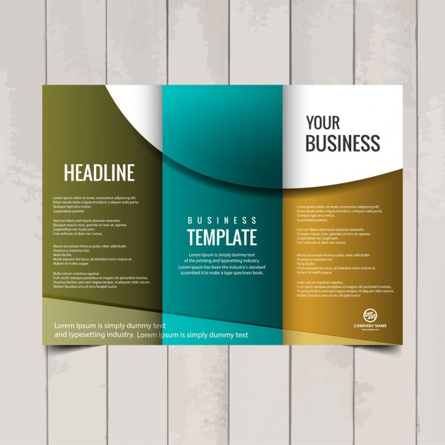 Tri fold brochure template Vector | Free Download