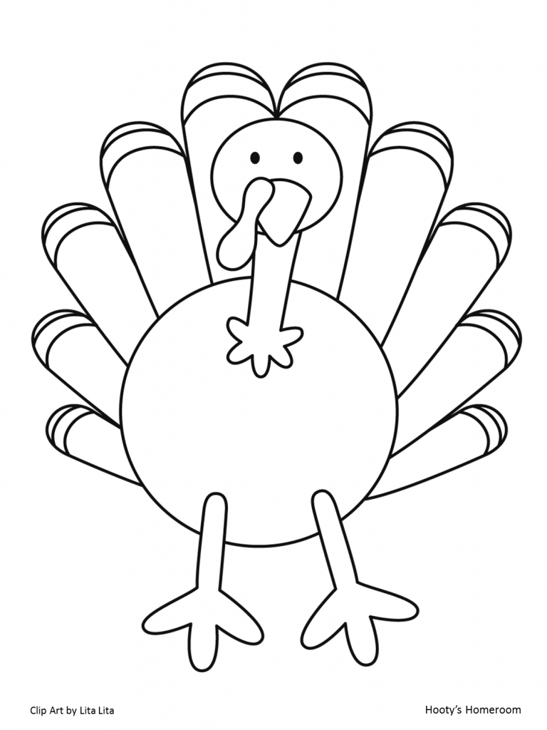 Turkey Template. Printable Turkey Hat Turkey Outline For Coloring
