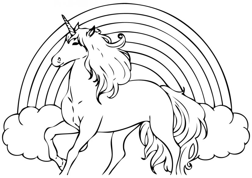 Unicorn Coloring Pages Free Printable Free Coloring Library