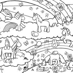 unicorn coloring page unicorn and caticorn coloring page by plaidsandstripes dqxu