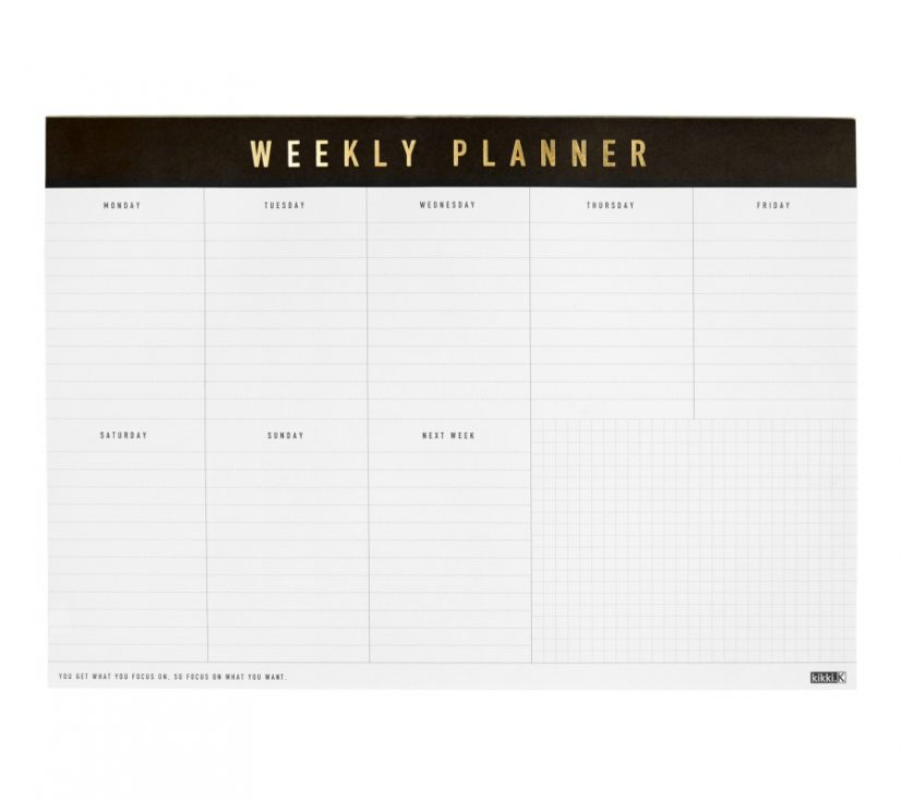 A4 WEEKLY PLANNER PAD: LIFE ESSENTIALS