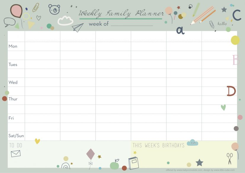 Organise your life with our newly designed weekly planner