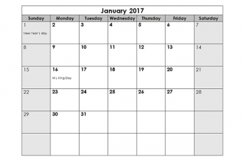 monthly calendar template monthly us holidays calendar