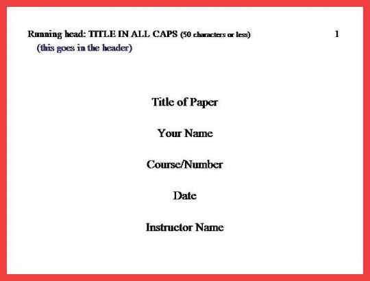 research paper apa format title page Kleo.beachfix.co