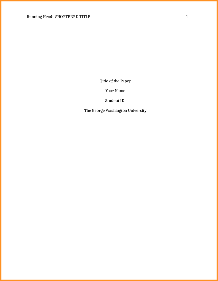 apa cover page template