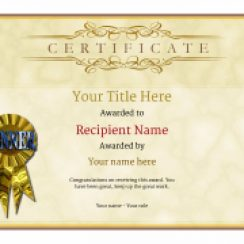 award templates free blank certificate template rosette thumbnail