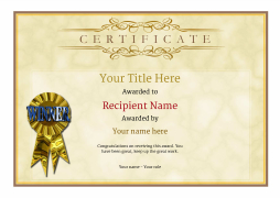 formal award certificate template Kleo.beachfix.co