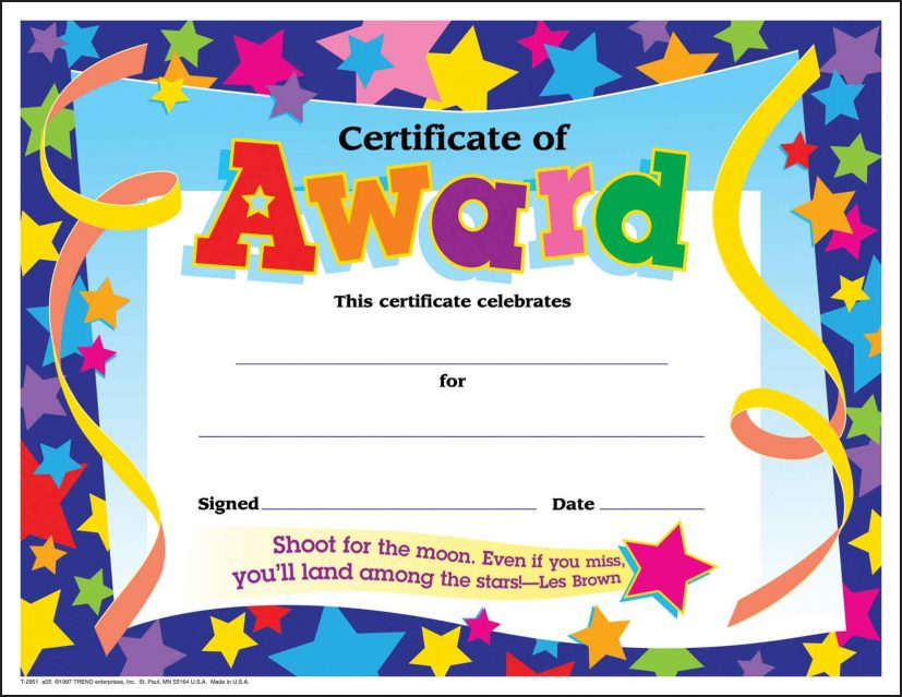 achievement certificates templates free certificates office ideas