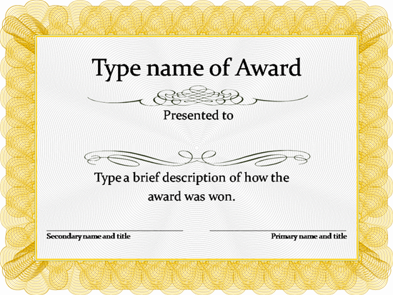 Certificate Template Free To Download New Template Achievement