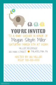 Customizable Design Templates for Baby Shower Invitation