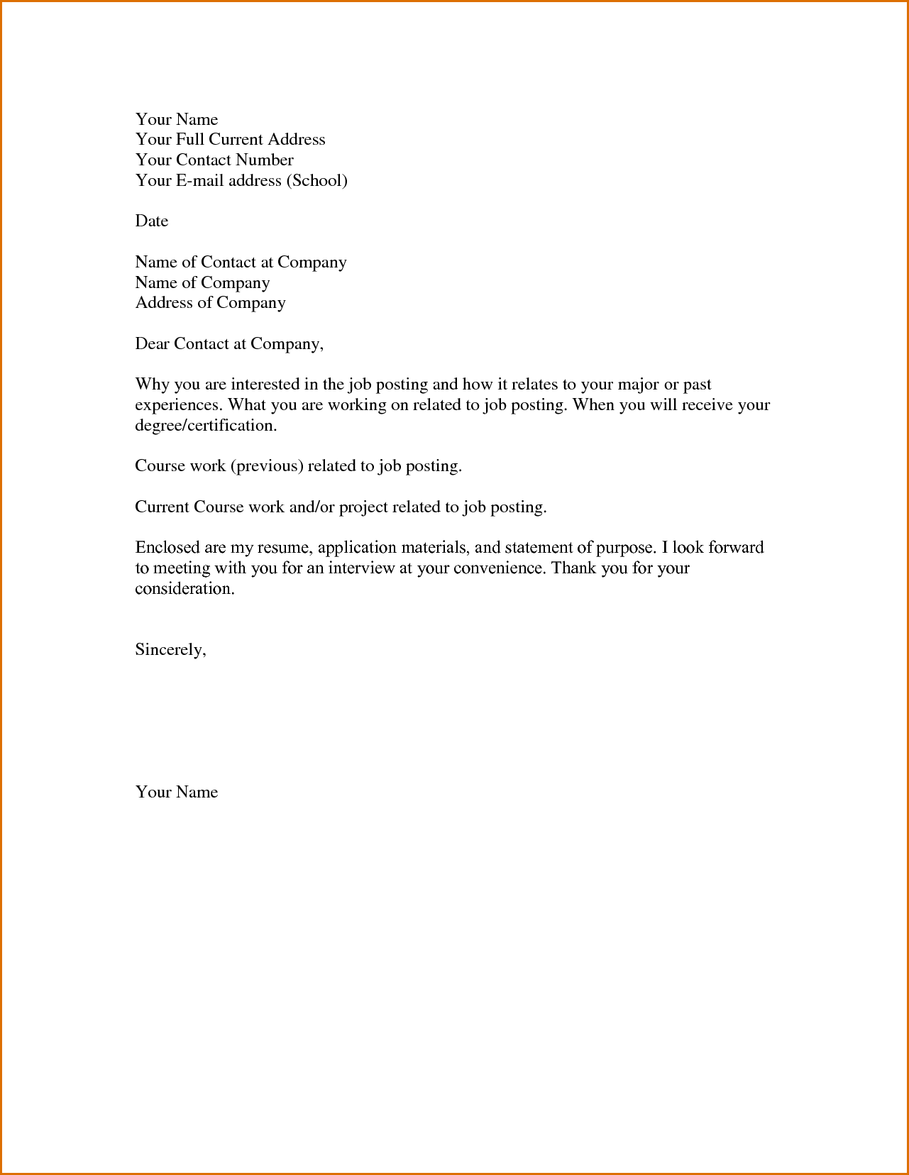 basic cover letter for employment Kleo.beachfix.co