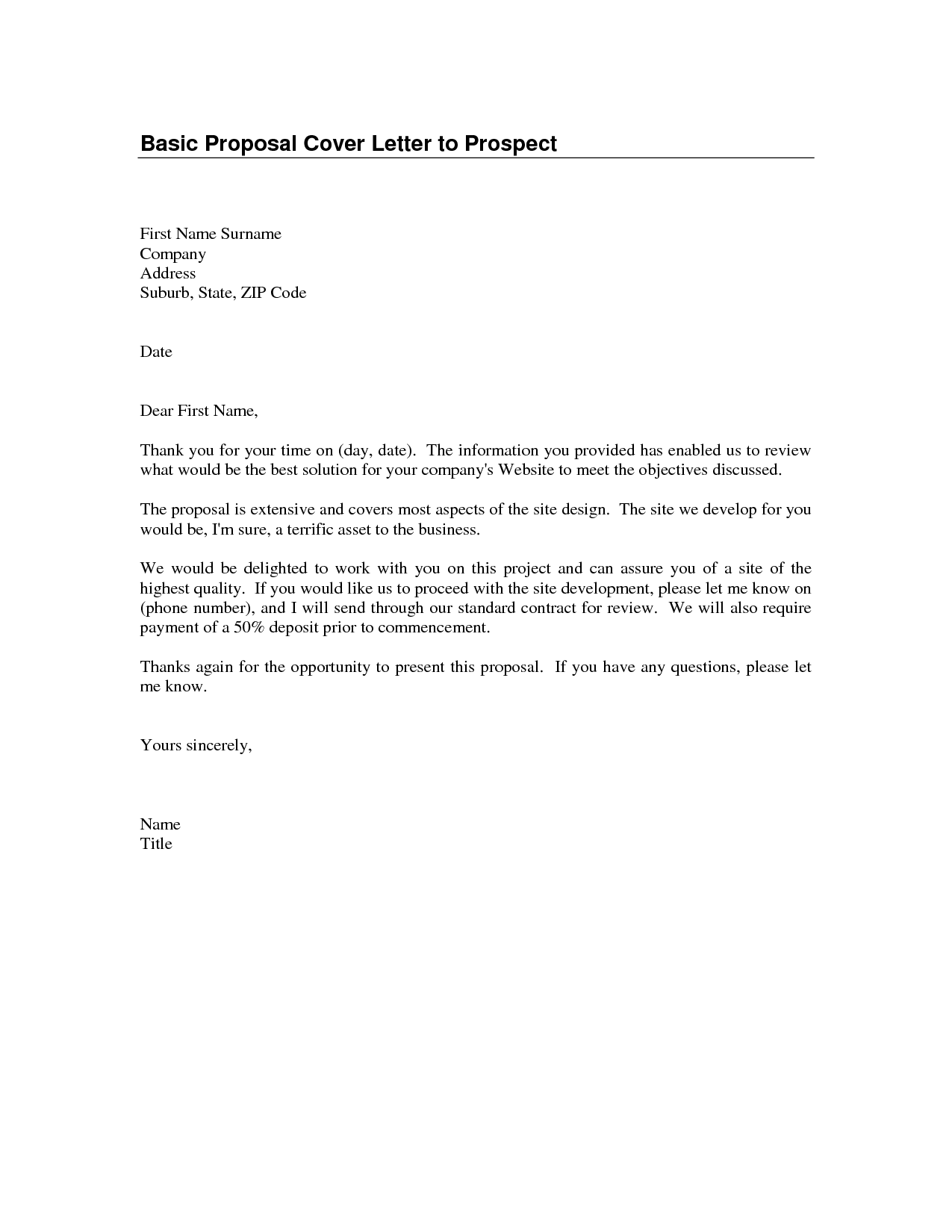 Basic Cover Letters Templates Perfect Basic Cover Letter Template