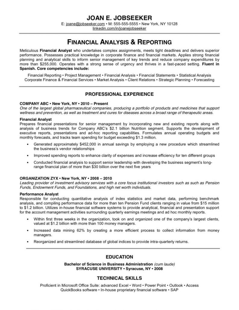 Why This Is Business Resume Examples On Resume Objective Example