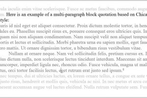 block quote block quotation with multiple paragraphs chicago and apa styles