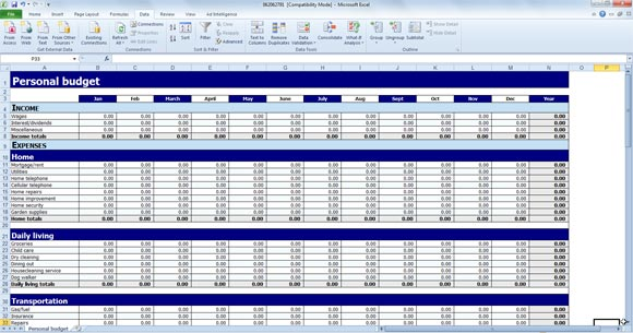 budgeting excel template free Kleo.beachfix.co