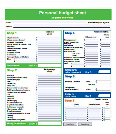 Budget Forms 9+ Free PDF Documents Download | Free & Premium