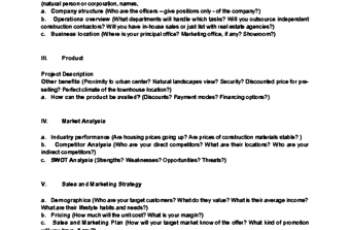 business plan sample px business plan template sample