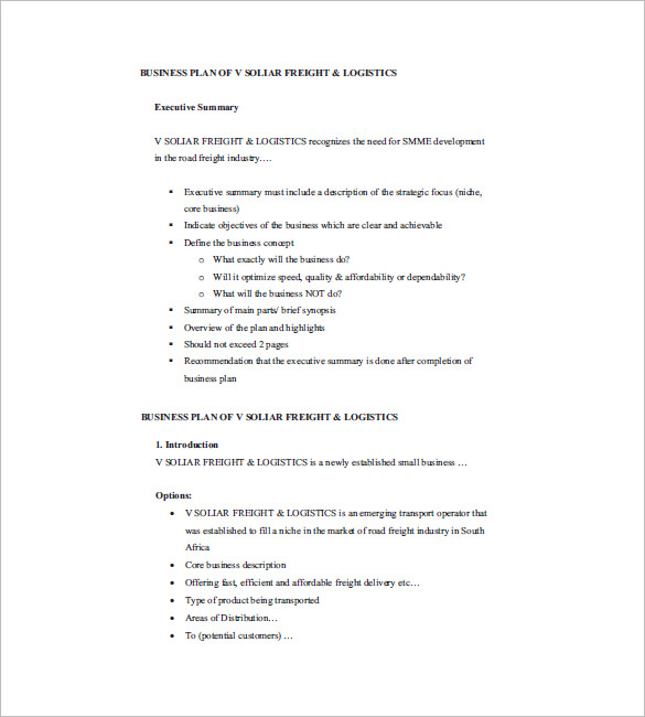 Small Business Plan Template 17+ Free Sample, Example Format