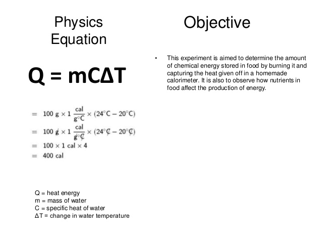 a report on an experiment to find the heat of fusion of water using a calorimeter This example problem demonstrates how to calculate the heat required to change the phase of a substance from solid to liquid using the heat of fusion the heat of fusion equation can tell you exactly how much energy you need atomic imagery / getty images.