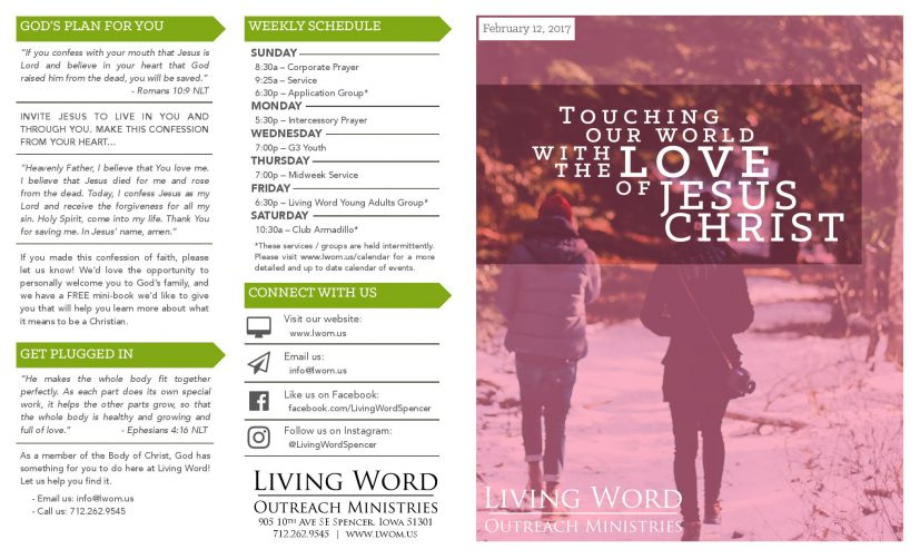 Church Bulletin Ideas Examples of Church Bulletins and Other