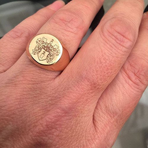 Amazon.com: Engraved ring, Personalized Ring, SigRing, Initial
