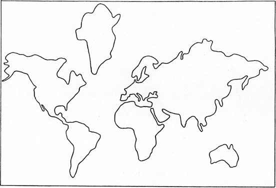 Ridiculous image with regard to printable continents to cut out