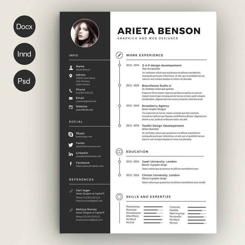 Resume Format Templates. Creative Resume Format Template Creative