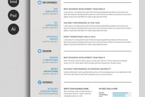 cv template word free ms word resume and cv template prev