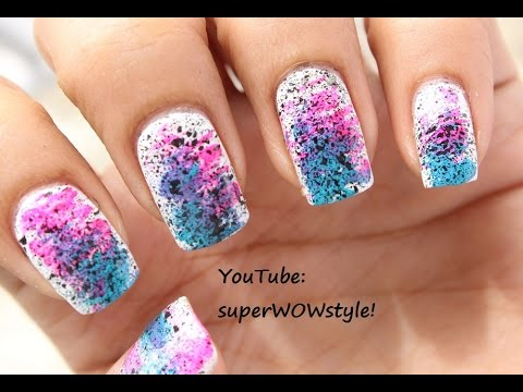 NO DRAWING !! Very Easy Nail Art BEGINNERS !! Very Easy Nail