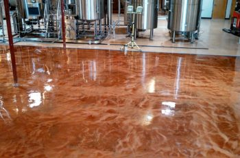 epoxy floor epoxy metallic micro brewery deutsche beer