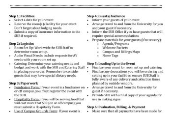 event planning checklist event planning checklist
