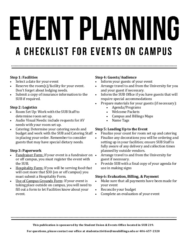 10 Event Planning Checklist Samples for Any Type of Event