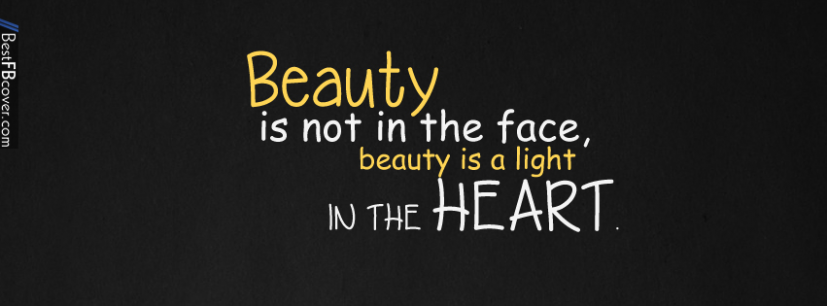 Beauty Quotes Facebook Cover | Best FB Cover | cover photos