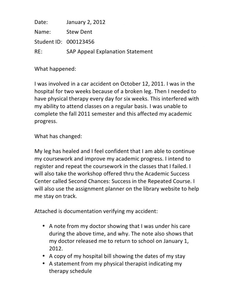 FinAid: The Financial Aid Information Page: Example of Appeal