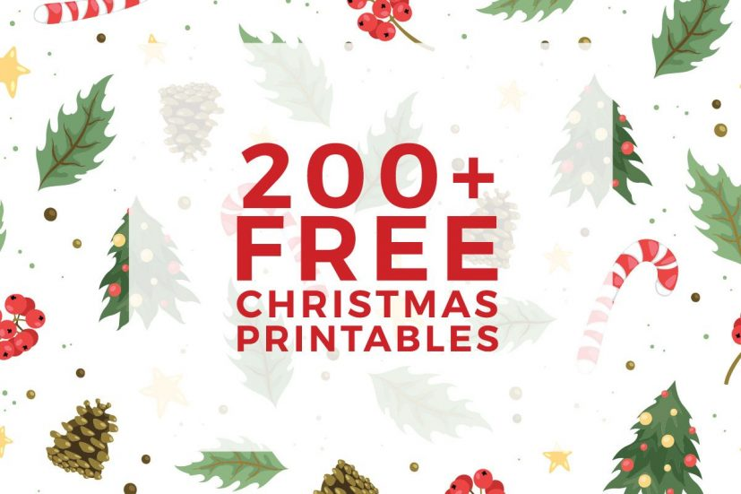 225+ Free Christmas Printables You Need To Decorate & Delight Your