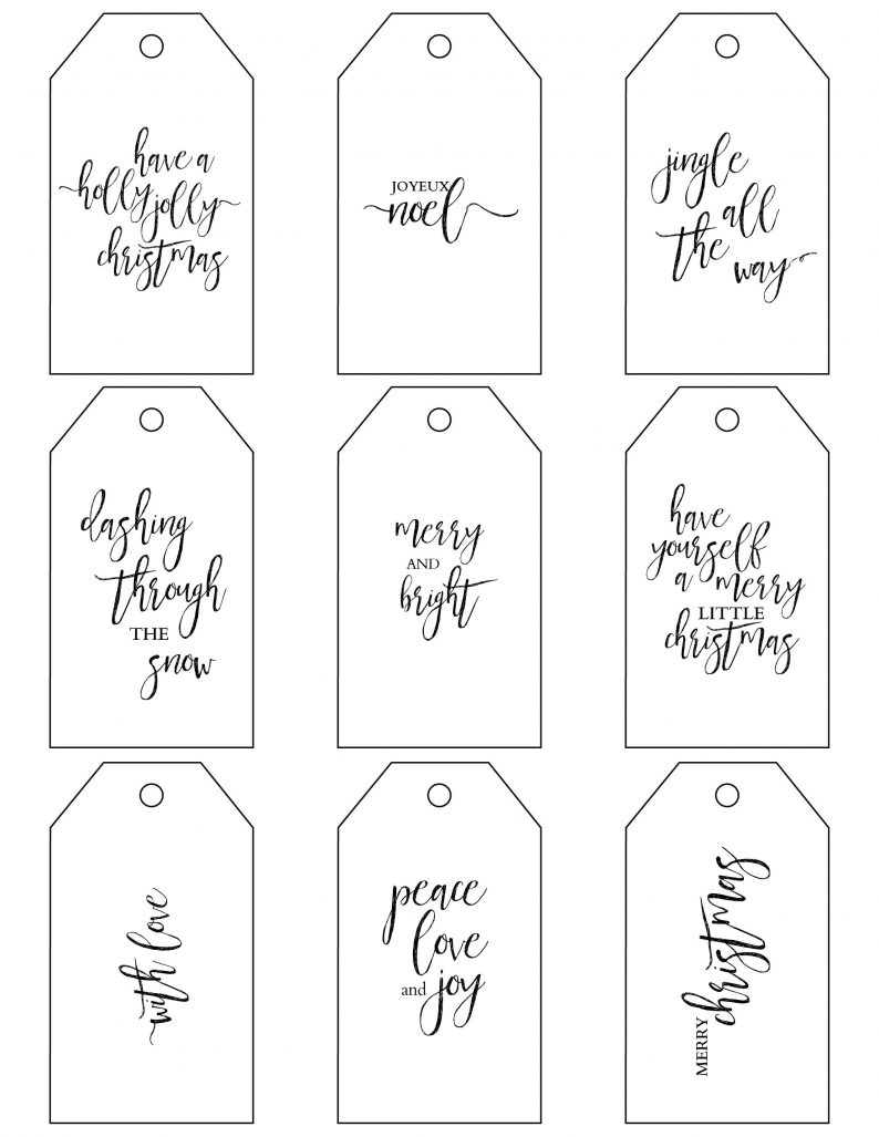 Printable Christmas Gift Tags make holiday wrapping simple