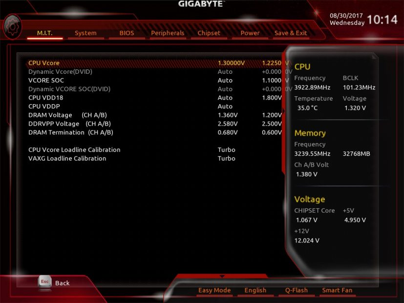 Gigabyte GA Z77X UP4 TH Motherboard 3D BIOS/UEFI Overview and