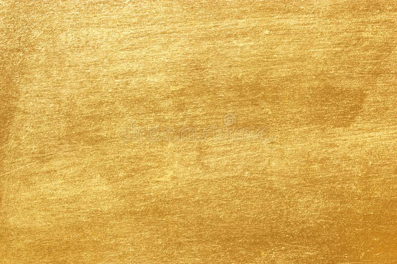 Shiny Yellow Leaf Gold Foil Texture Stock Image Image of paint
